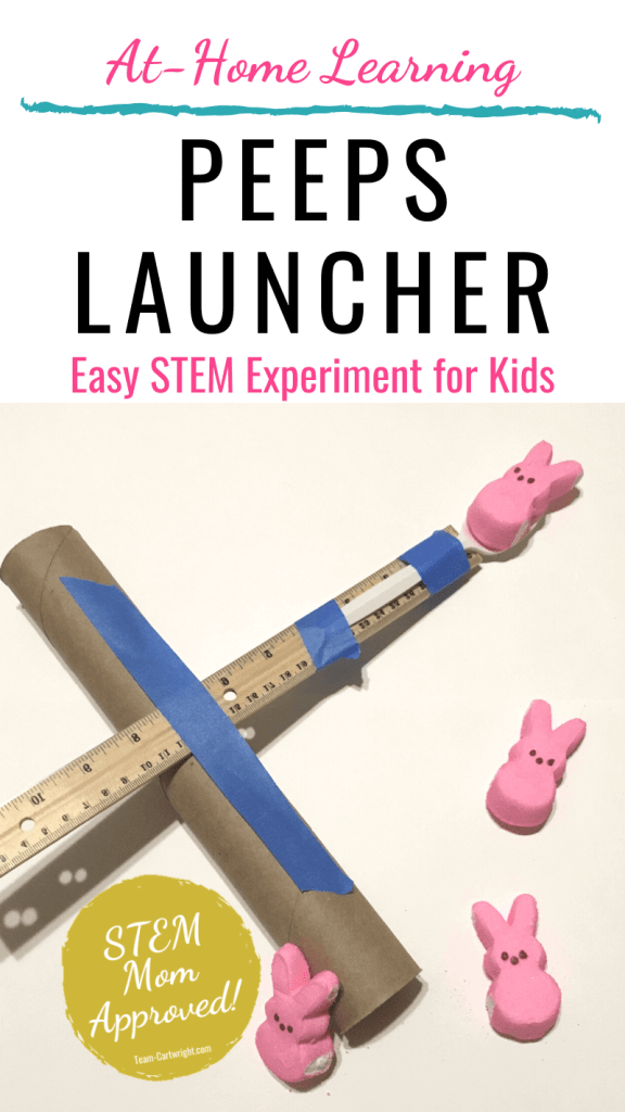 how to make a peeps launcher STEM activity