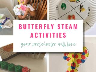 Butterfly STEAM Activities Your Preschooler Will Love