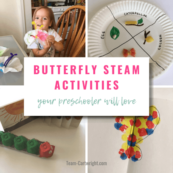 Butterfly STEAM Activities for Preschoolers and Toddlers