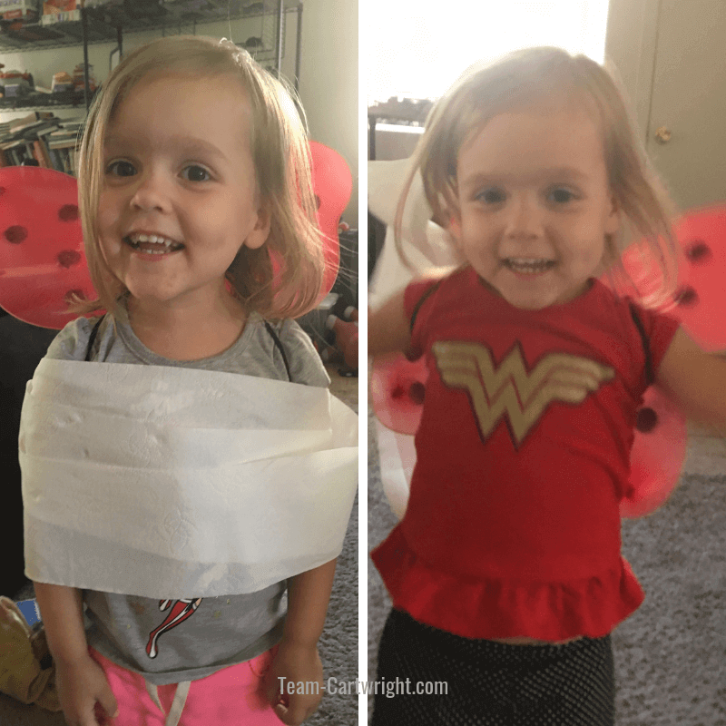 Let your child break out of a toilet paper cocoon!