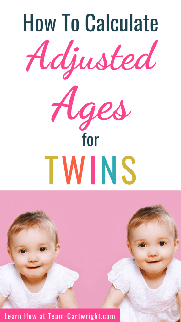 How To Calculate Adjusted Ages for Twins