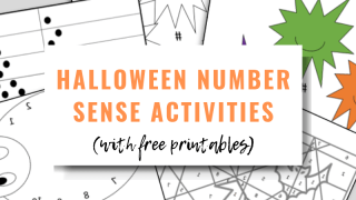 Halloween Number Sense Activities Perfect for Kids (with Free Printables!)