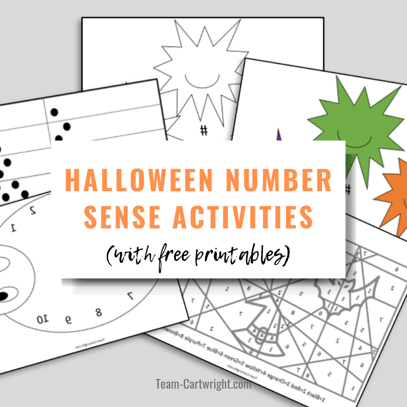 Halloween Number Sense Activities (with free printables!)