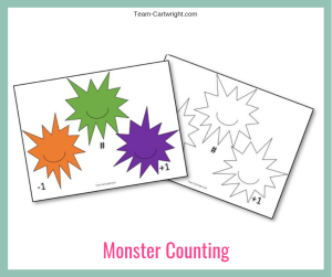 Monster Counting Worksheets