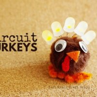 Light Up Thanksgiving Turkey Circuit Craft for Kids