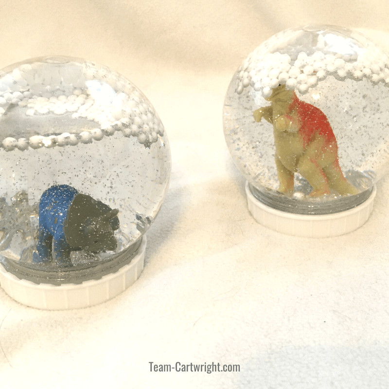 dinosaur snow globes