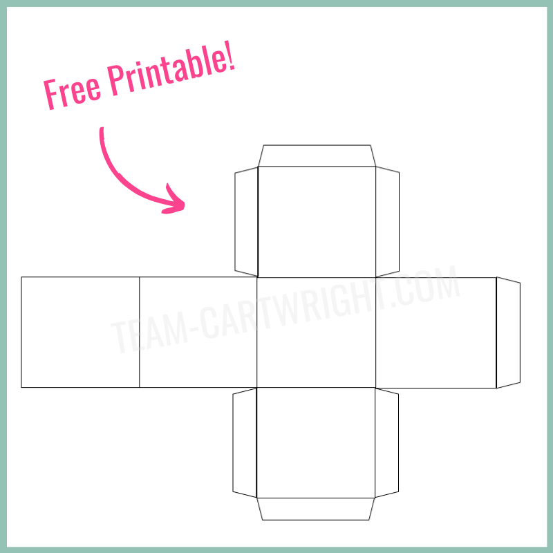 Free printable DIY Paper Dice Template
