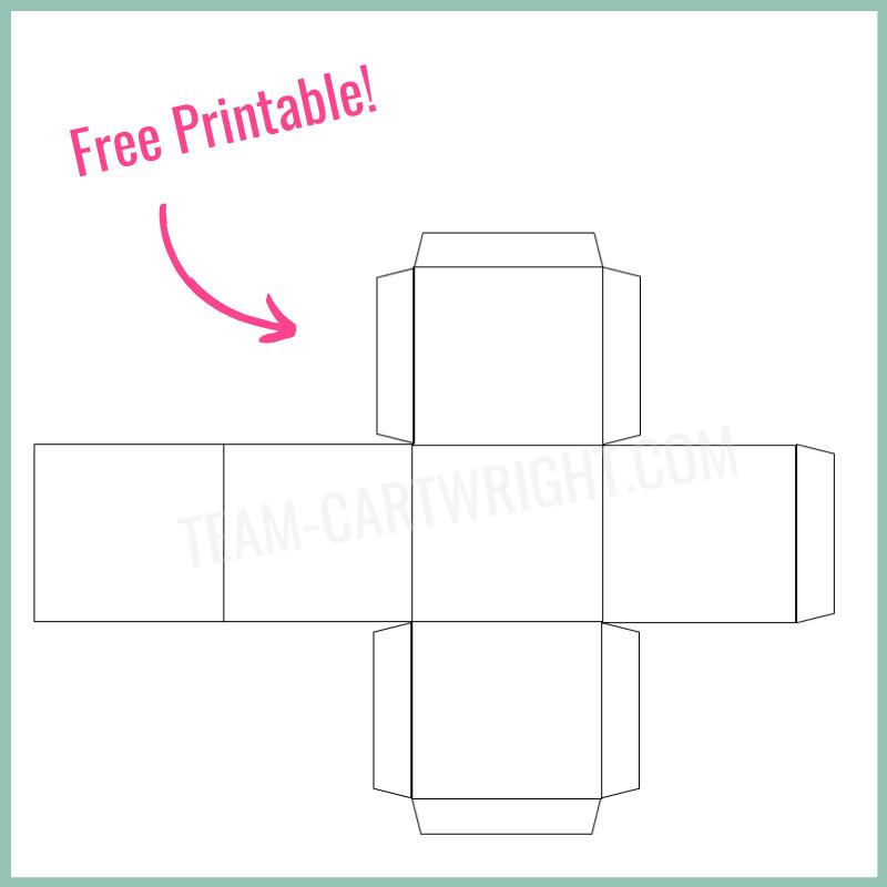 Free printable DIY Paper Dice Template