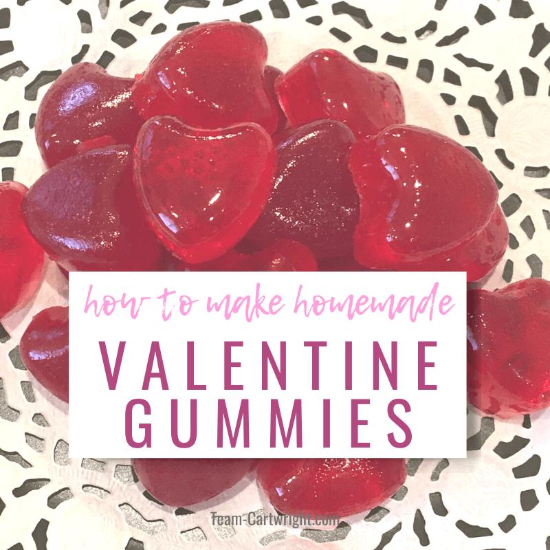 how to make homemade Valentine Gummies
