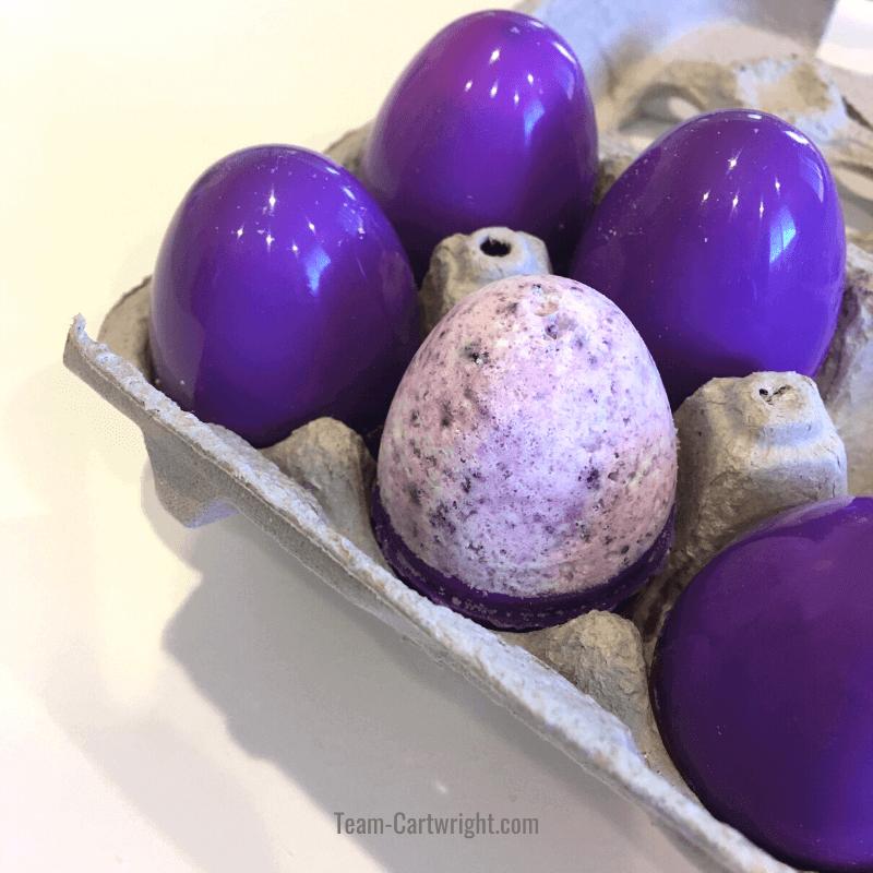 homemade easter egg bath bombs