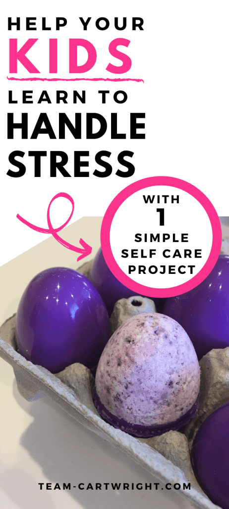 help kids learn to handle stress with 1 simple self care project