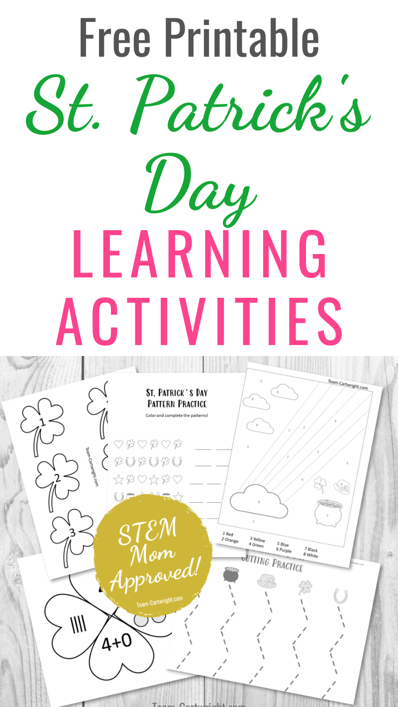 Free Printable St. Patrick's Day Learning Activities
