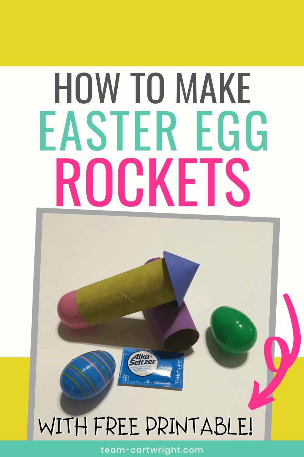 How To Make Easter Egg Rockets (with free printable!)