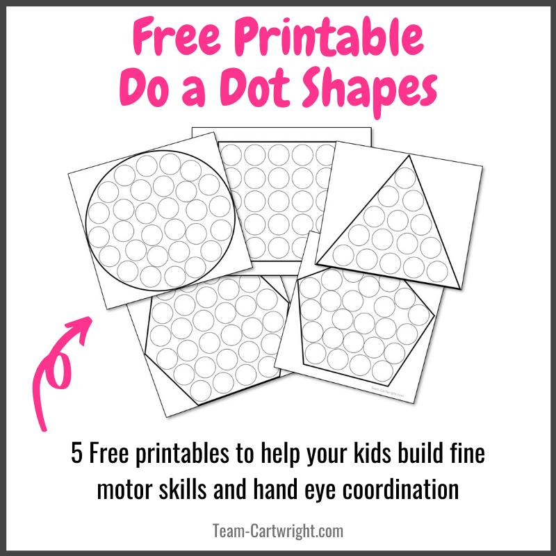 Do a Dot Shape Free Printables for Kids