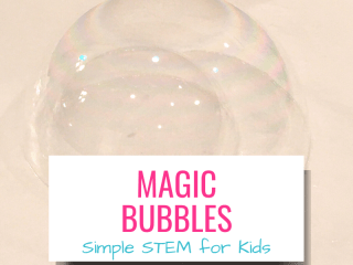Magic Bubbles Simple STEM for kids with picture of double bubble