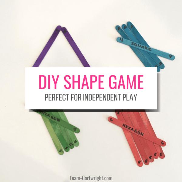 Easy DIY Preschool Shape Activities with Craft Sticks