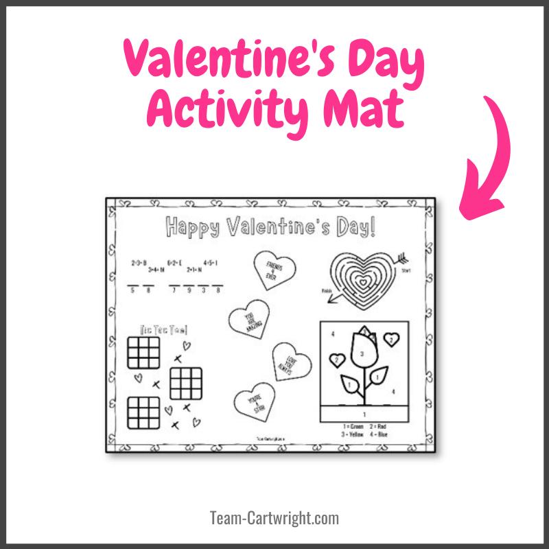 Valentine's Day Activity Mat free printable