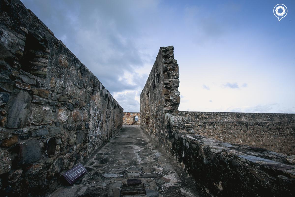 Upper floors of the fort