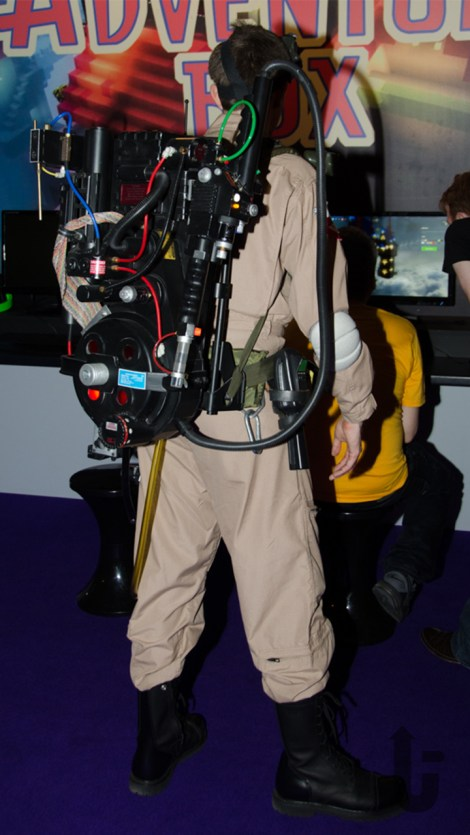 EGX, expo, video games, cosplay, Ghostbusters, proton pack
