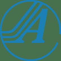 Allstar Communications A logo, blue