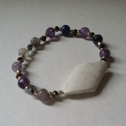 Magnesite & Purple Fluorite