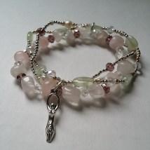 Triple Band - Rose Quartz, Green Aventurine & Pearls