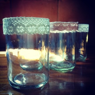 Limited Edition - Lacey Recycled Bottle Candles
