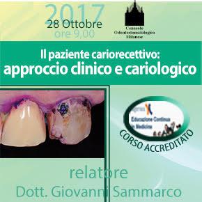 28 ottobre – Il paziente cariorecettivo