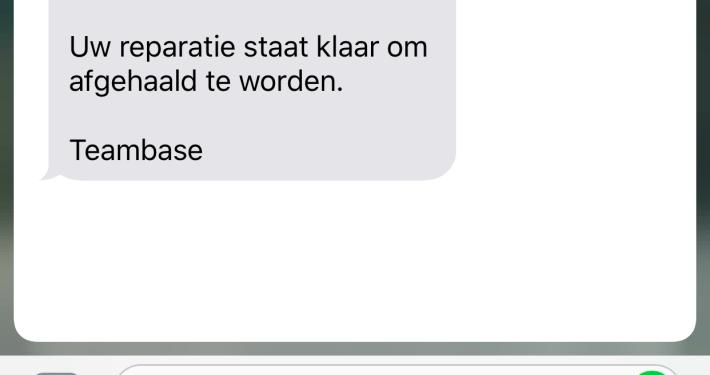 Reparatiemodule SMS versturen