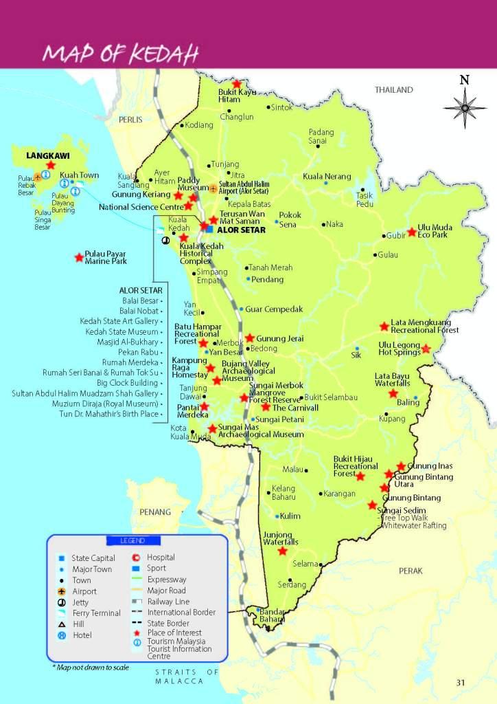 Malaysia Northern Region (Perlis, Kedah, Penang, Perak) April 2017 Map Of Kedah