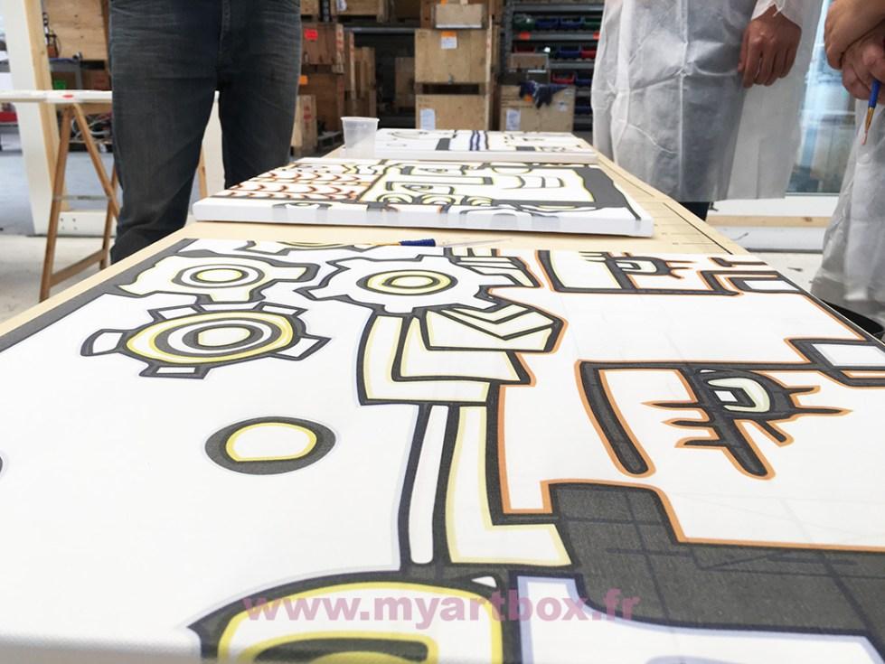 fresque peinture atelier puzzle