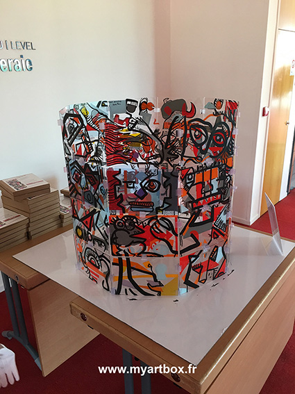 fresque cylindrique avec my art box