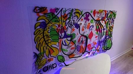 fresque animation Lyon pour soirée en entreprise