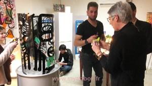 fresque participative en animation soirée
