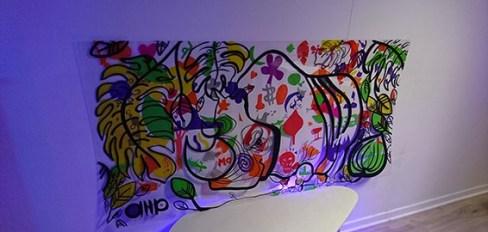fresque pour animation en inauguration soirée