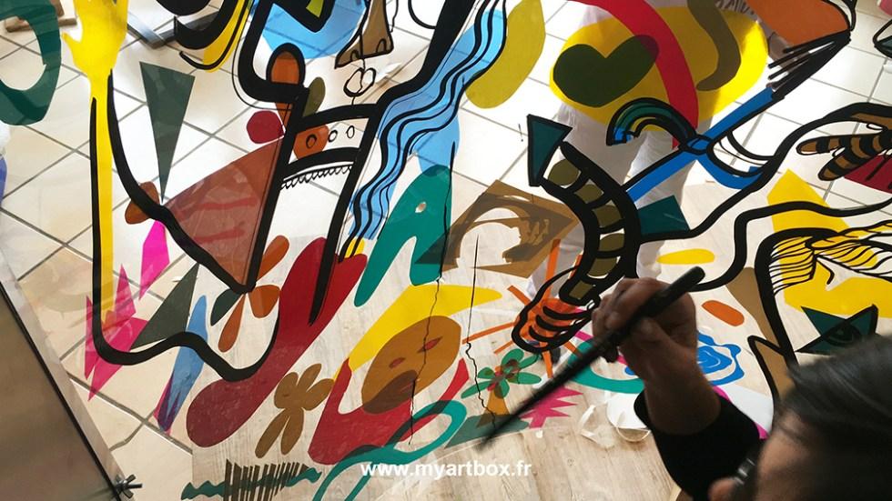 fresque collective
