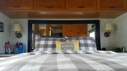 Our cozy RV bedroom