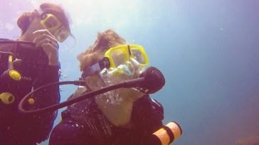 Failed underwater selfie