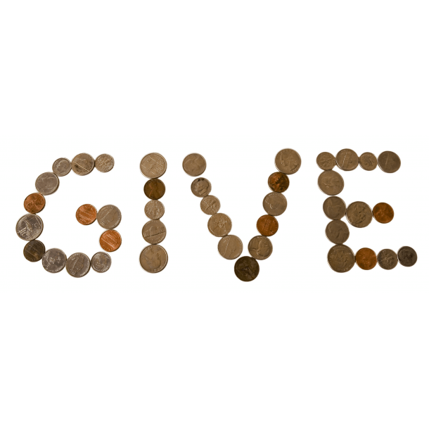 give spelled out in coins
