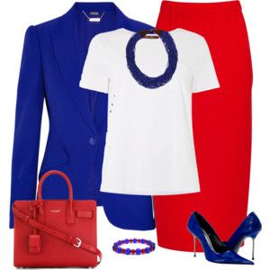 Red and Royal Blue