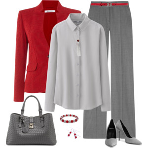 Red and Silver Gray