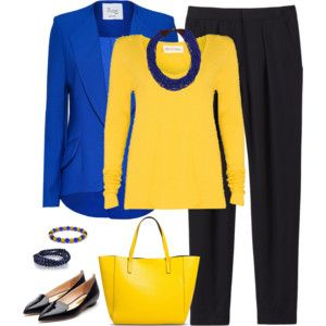 Royal Blue and Gold - Work Wear 1