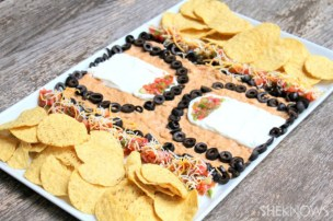 Basketball court 7 layer dip