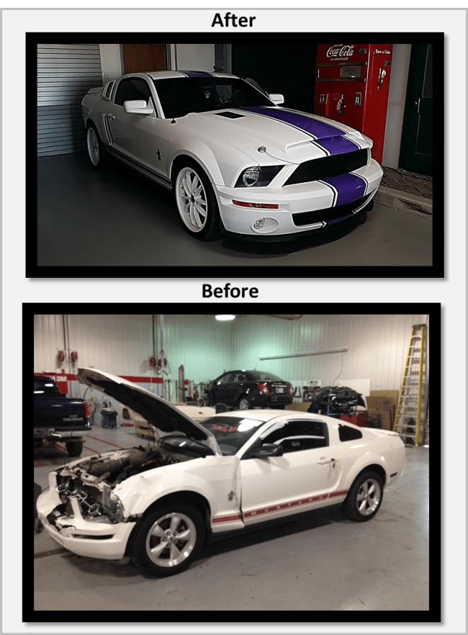 Before After Mustang