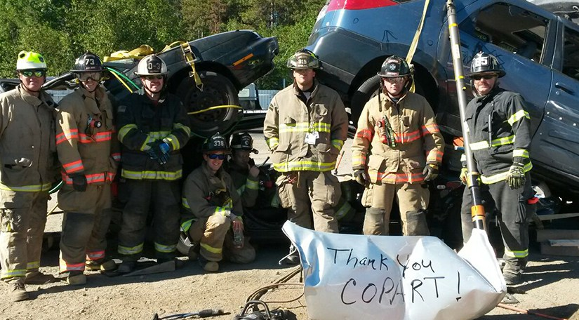 Copart Lyman Hosts Local Fire Department for Special Rescue Training