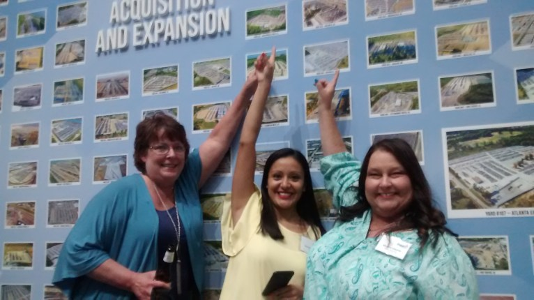 Yard 13 Lora Haney, Berenice Baltazar, and Michelle Edwards found their home in the Copart Museum during their Town Hall visit.
