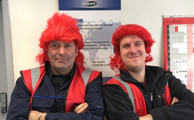 Copart UK Goes Red for Rainbow