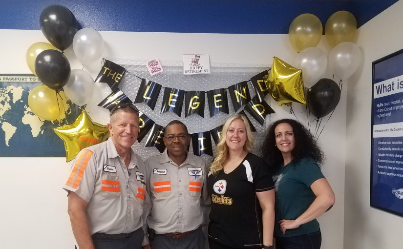Copart Las Vegas Throws Football-Themed Retirement Party