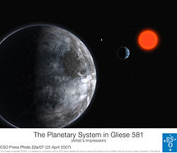 Gliese 581 - European Southern Observitory