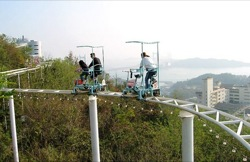 Human Powered Roller Coaster in Japan